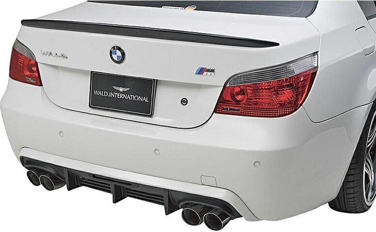 M's E60 E61 BMW 5シリーズ Mスポーツ用 2004y- WALD SPORTS LINE リアディフューザー FRP製 540i エアロ バルド 530i スポーツライン 即日出荷 545i 525i ヴァルド セダン 購入 リヤディフューザー ツーリング