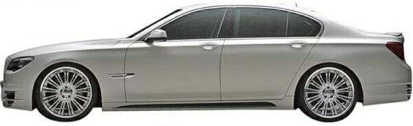 【M's】F01/F02/F03/F04 BMW 7シリーズ(2010y-2015y)WALD Black Bison サイドステップ 左右 (ロング/ショート別設定)//FRP製 社外品 ブラックバイソン エアロ 740i 740Li 750i 750Li 760Li ActiveHybrid 7/7L