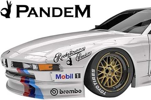 【M's】E31 BMW 8シリーズ (1990y-1999y) PANDEM フロントフェンダー 左右//パンデム FRP製 エアロ カスタム シンプル ワイドフェンダー オーバーフェンダー 840Ci 850i 850CSi ロケットバニー ロケバニ