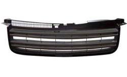 【M's】フォルクスワーゲン VW パサート Passat B5 3BG R36 ルック マークレス グリル(ブラック)新品(239875)