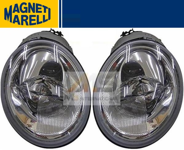 【M's】VW ニュービートル(1999y-2005y)MARELLI製 ハロゲンヘッドライト(左右)//純正OEM マレリー RSi ハッチバック カブリオレ 1C2-941-029D 1C2-941-030D 1C2941029D 1C2941030D