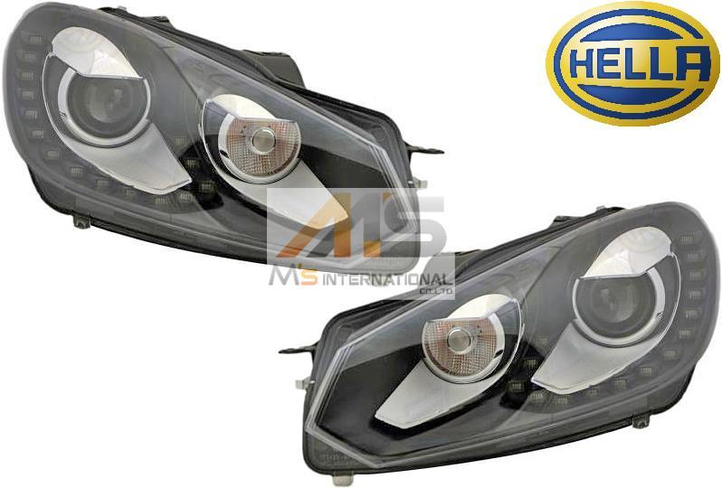 【M's】VW ゴルフ6/GOLF6(2009y-2013y)HELLA製 バイキセノン ヘッドライト 左右(LEDデイライト付)//正純正OEM HID ヘラ ライト バイキセノンライト 日本仕様 左側通行用 5K2-941-753D 5K2-941-754D 5K2941753D 5K2941754D