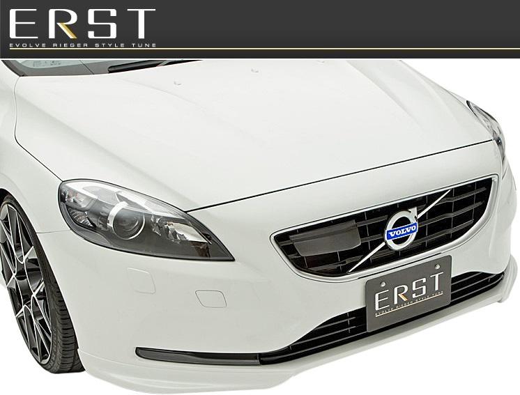 【M's】ボルボ V40 MB T4(2013y-)ERST フロントリップスポイラー(センターフラップ無) //ZYX017-V4001 VOLVO エアスト ウレタン 新品