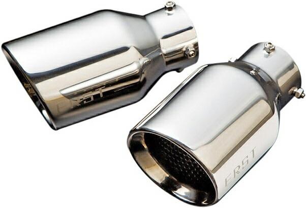 【M's】ボルボ V40 MB T4 T5 R-DESIGN(2013y-)ERST リア マフラーカッター 100φ シングル/オーバル 左右 (ノーマルリアスカート用)// VOLVO ZYX017-MC02 エアスト 新品