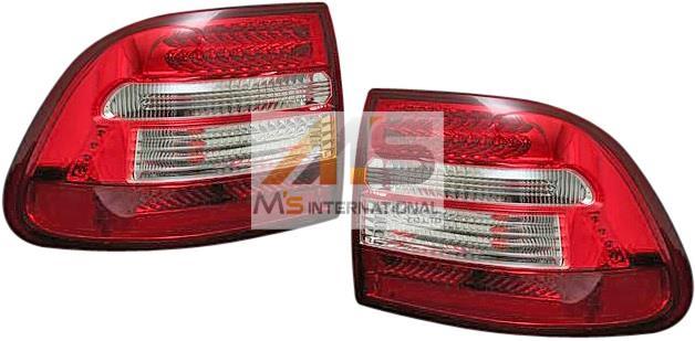 【M's】ポルシェ カイエン 955(2002y-2006y)SPARK製 LEDテールレンズ 左右 クリア/レッド(警告灯対策済)//社外品 スパーク ランプ ライト PORSCHE Cayenne 1595 警告灯対策済
