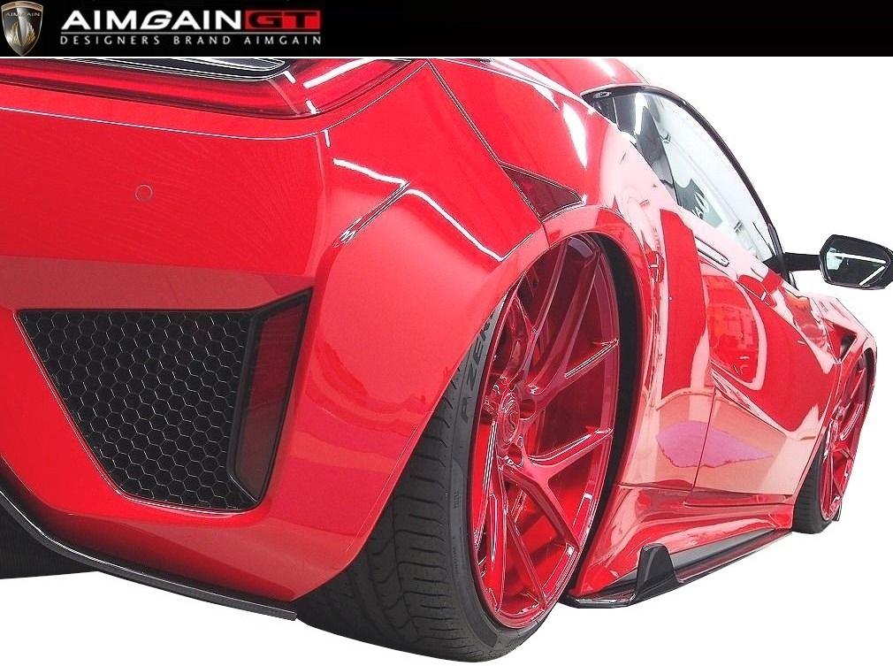 ホンダ NSX NC1 サイド アンダー フィン ドライカーボン製 AIMGAIN エイムゲイン / HONDA new NSX side under spoiler Dry Carbon