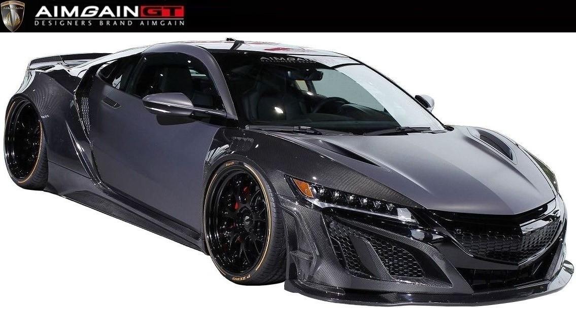 ホンダ NSX NC1 ワイド ボディ キット 8点 セット ドライカーボン製 AIMGAIN エイムゲイン HONDA / ACURA new NSX body kit 8P Dry Carbon