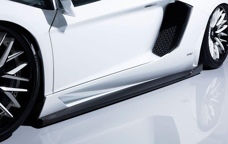 【M's】 ランボルギーニ アヴェンタドール サイド アンダー スポイラー / AIMGAIN GT / エイムゲイン エアロ // Lamborghini Aventador / S スカート ディフューザー