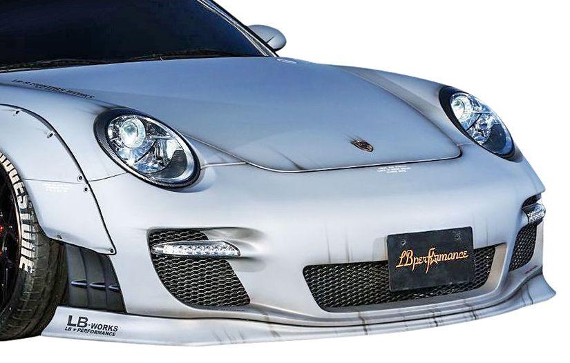【M's】ポルシェ 911 (997) LB パフォーマンス フロント バンパー & リップ スポイラー // F バンパー/PORSCHE LB WORKS/PERFORMANCE Body kit FRP リバティウォーク 単品