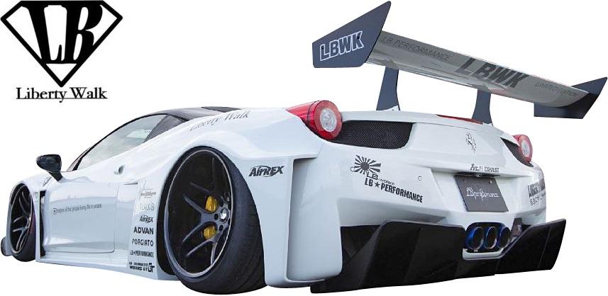 【M's】フェラーリ 458 (2009y-2015y) LB-Silhouette WORKS シルエットGT リアディフューザー//ドライカーボン製 Dry Carbon Liberty Walk リバティーウォーク リバティウォーク リバティー リバティ LB エアロ ディフューザー FERRARI
