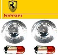 【M's】フェラーリ クリスタルサイドマーカー LR//458 F12ベルリネッタ FF カリフォルニア 328 348 355 360 430 456 550 575 テスタロッサ 512 599 F40 F50 エンツォ 3581 Ferrari オレンジバルブ付