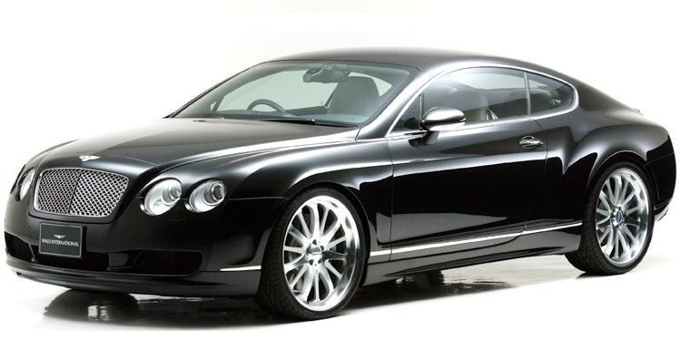 【M's】ベントレーコンチネンタル GT(03y~/クーペ)WALD フルエアロ3点セット(FRP製)// Bentley Continental バルド ヴァルド フロントスポイラー サイドステップ リアスカート 未塗装 新品