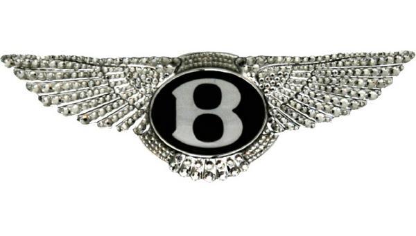【M's】ベントレー BENTLEY コンチネンタル GTC(全年式) スワロフスキー付き デコレーション ステアリングエンブレム新品