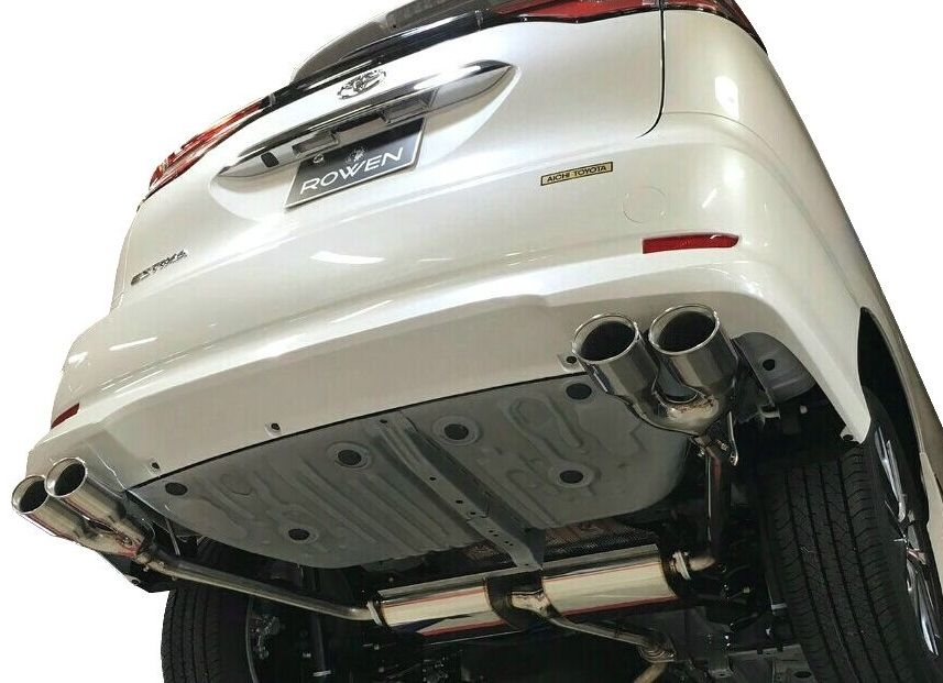 【M's】トヨタ エスティマ アエラス 50 後期(H28.6~R1.12)左右 4本出し マフラー ROWEN / ロエン 2.4L 2WD専用 1T024Z00 TOYOTA ESTIMA