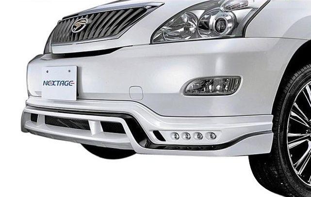 【M's】ハリアー 30系 フロント スポイラー with LED / ROWEN / ロエン エアロ // ハーフ/リップ / トヨタ TOYOTA HARRIER 30 ACU/MCU/GSU 3# 1T015A00