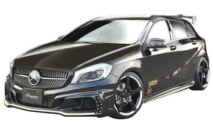 【M's】ベンツ W176 A250 前期 エアロ 3点セット(LEDスポット付)/ROWEN/ロエン//フロント & リア バンパー/サイドステップ/メルセデス Mercedes Benz A クラス / シュポルト/4マティック /STYLE KIT 1C001X00