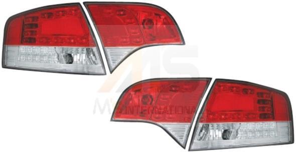 【M's】AUDI アウディA4 8E B7(アバント ワゴン/05y-)LEDウィンカー付/LEDテールレンズ4P タイプ-2(レッド×クリアー/211525)新品 ZONE Racing製 ゾーンレーシング製