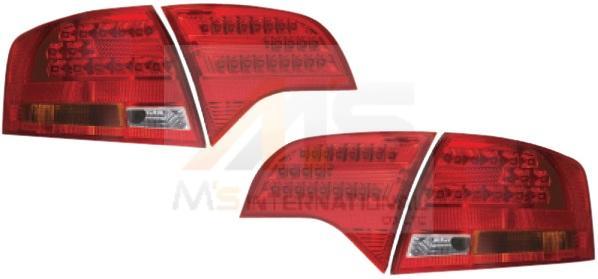 【M's】AUDI アウディA4 8E/B7(ワゴン/05y-)LEDテールレンズ4P タイプ-3(211670)新品 ZONE Racing製 ゾーンレーシング