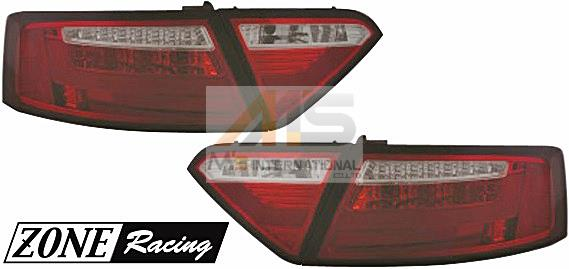 """【M""""s】アウディ A5 クーペ 8T/B8(08y-10y)ZONE RACING製 LEDテールレンズ Type-1(スモーク/ダークレッド)//ゾーンレーシング ランプ ライト AUDI 211542"""