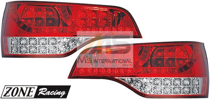 【M's】アウディ Q7(4L)ZONE Racing LED テール レンズ(レッド/クリアー)//AUDI 社外品 ゾーンレーシング テールレンズ 210610
