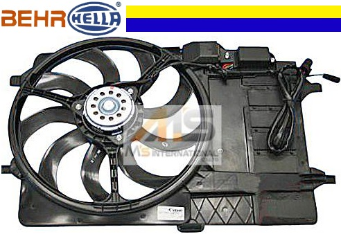 【M's】R50 R53 BMW ミニ 前期(01y-03y)BEHR_HELLA製 ラジエーター 電動ファン(シュラウド付)//純正OEM MINI クーパー ワン ブロアファン アディショナルファン 1710-1475-577 17101475577
