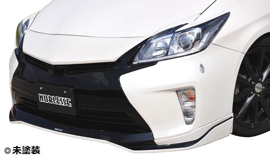 【M's】プリウス 30 後期 フロント グリル ガーニッシュ ABS製 未塗装 / G's ルック / トヨタ TOYOTA PRIUS / マークレスグリルガーニッシュ