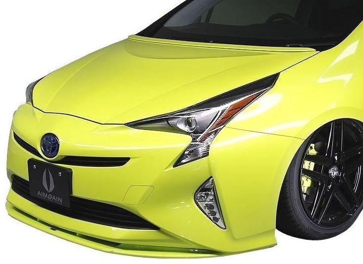 【M's】 トヨタ プリウス 50 系 フロント リップ スポイラー / AIMGAIN / エイムゲイン エアロ // TOYOTA PRIUS ZVW 50 51 55 / アンダー ハーフ 新型 現行
