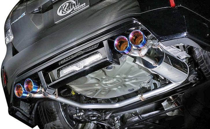【M's】トヨタ プリウスα 前期 (H23/5~H26/10) 40R-SS SLASH4テールマフラー // クール レーシング カスタム エアロ / 高品質ステンレス ヒートブルー 4本出しマフラー 車検対応 / ZVW40 ZVW41 TOYOTA PRIUSα 新品 KUHL RACING