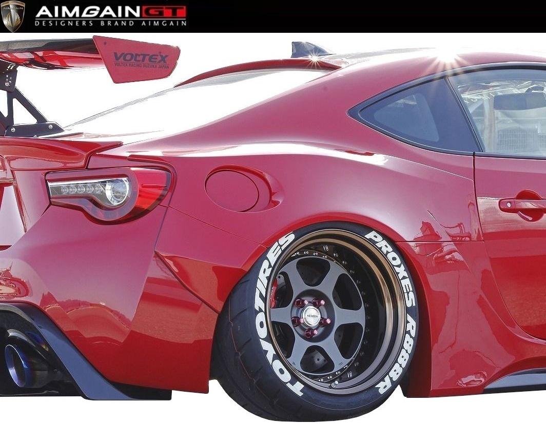 【M's】TOYOTA 86 後期(H28.8-)リア ワイド フェンダー // AIMGAIN GT エイムゲイン エアロ / rear wide fender