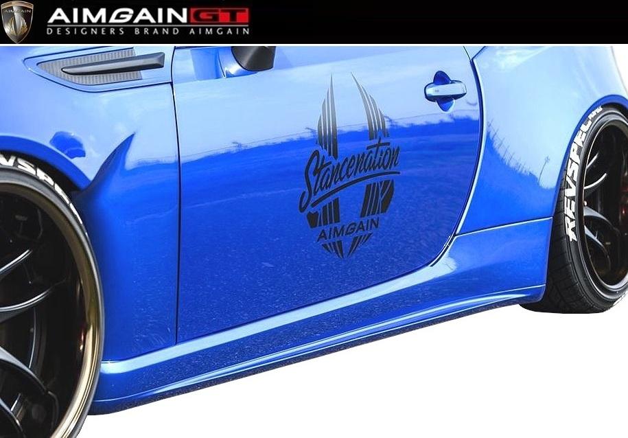 【M's】SUBARU BRZ 前期(2012.3-2016.7)サイド ステップ 左右 / AIMGAIN GT/エイムゲイン エアロ // SIDE STEP / スバル ZC6