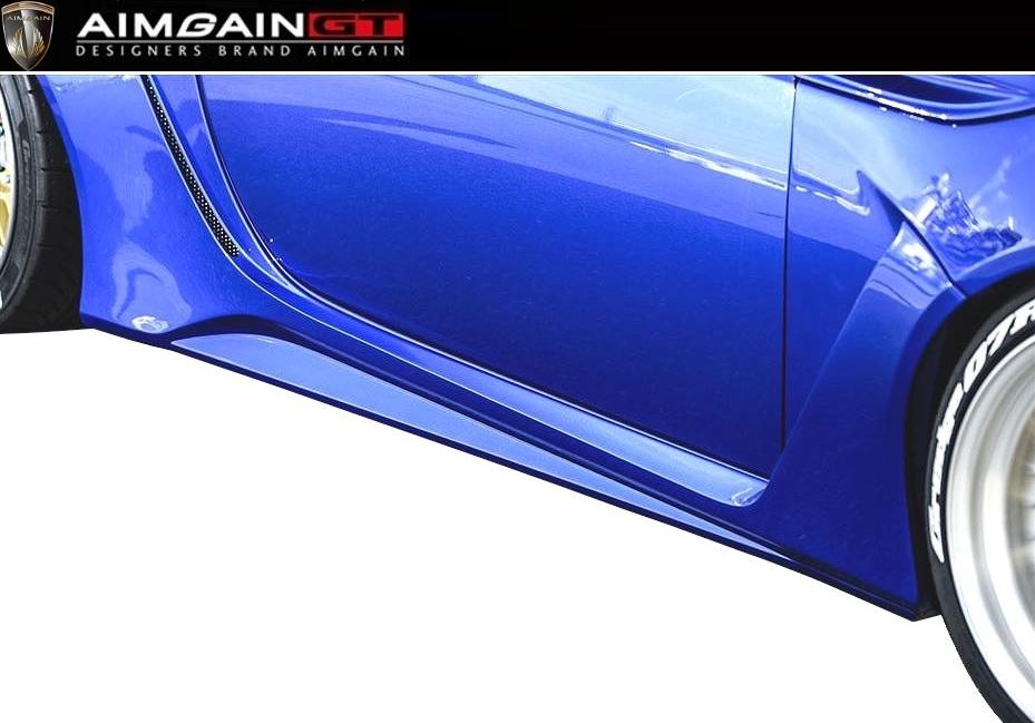 【M's】SUBARU BRZ 後期(H28.8-)サイド スカート 左右 / AIMGAIN GT/エイムゲイン エアロ // SIDE SKIRT / スバル ZC6