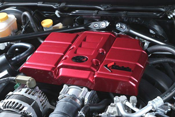 【M's】トヨタ 86(ZN6)Kuhl RACING製 エンジンカバー ハードエンブレム (レッド) // TOYOTA クールレーシング 社外品