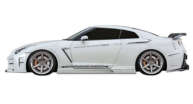 【M's】日産 GT-R R35 KUHL RACING 製 35R-GT サイドステップ //クール レーシング エアロ ボディキット サイド S スポイラー NISSAN 新品