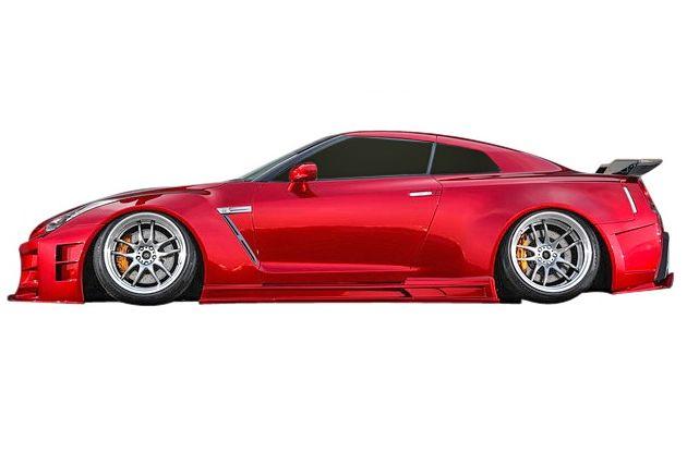 """【M""""s】日産 GT-R R35 ワイドボディ 35R-GTW サイドステップ KUHL RACING //クール レーシング エアロ ワイドボディ専用 NISSAN 新品"""
