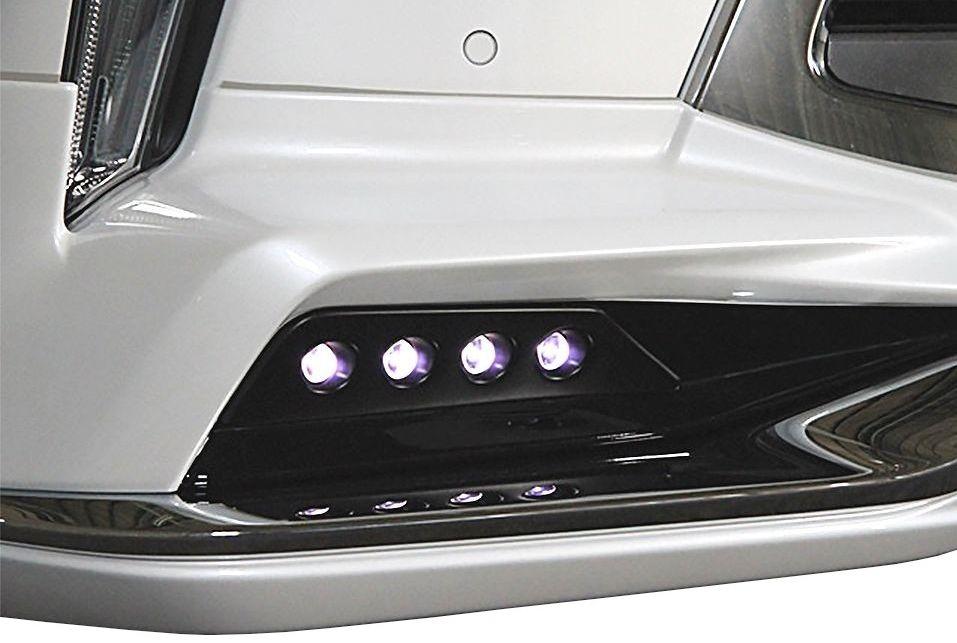 【M's】LEXUS LX 570 LED アタッチメント 塗装済み モデリスタ フロントスポイラー用 / DOUBLE EIGHT/ダブルエイト // painted LED daytime running light attachment for front spoiler of MODELLISTA / レクサス URJ201W