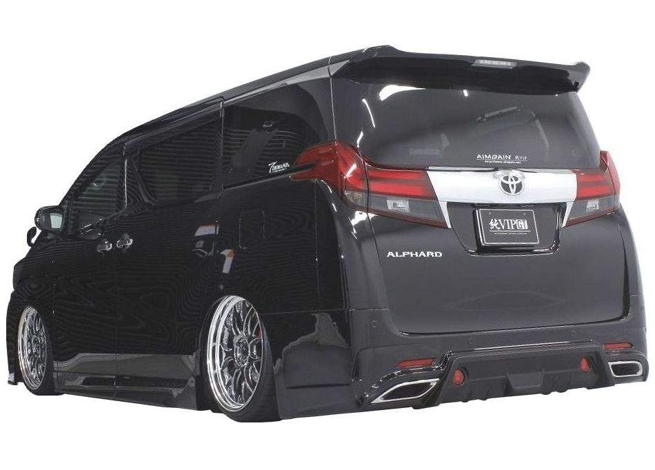 【M's】アルファード 30 リア バンパー + マフラー フィニッシャー / AIMGAIN エアロ // トヨタ TOYOTA ALPHARD 30 / DBA - AGH GGH 30W 35W / Rear Bumper Spoiler with Muffler Finisher