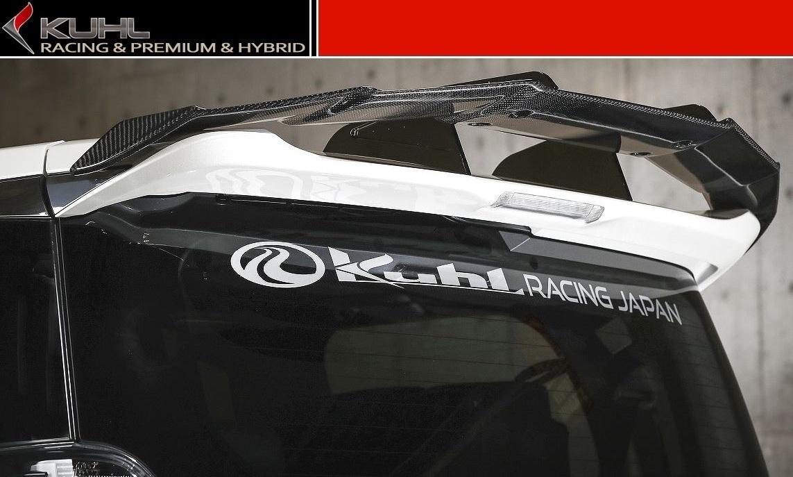 【M's】 ヴェルファイア 30 スワンネック GT ウイング カーボンタイプ(全グレード対応)/ KUHL RACING/クールレーシング エアロ // リア ルーフ スポイラー / トヨタ TOYOTA VELLFIRE AGH GGH AYH 30W 35W