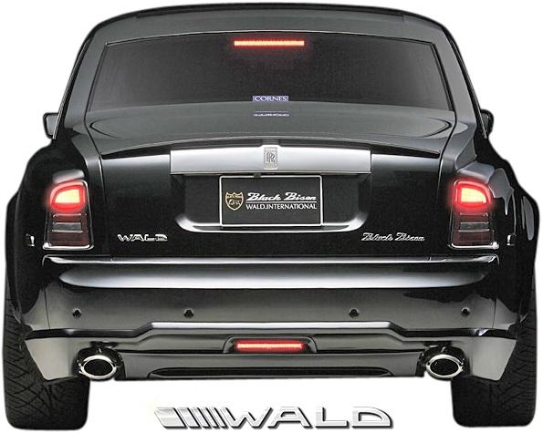 【M's】ロールスロイス ファントム (2003y-2008y) WALD Black Bison リアバンパースポイラー//FRP製 ヴァルド バルド エアロ カスタム シンプル ロールス Rolls Royce PHANTOM ブラックバイソン リヤバンパースポイラー