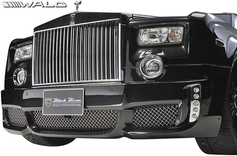 【M's】ロールスロイス ファントム (2003y-2008y) WALD Black Bison フロントバンパースポイラー//FRP製 ヴァルド バルド エアロ カスタム シンプル ロールス Rolls Royce PHANTOM ブラックバイソン