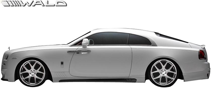 【M's】ロールスロイス レイス (2013y-) WALD Black Bison サイドステップ 左右//FRP製 ヴァルド バルド エアロ カスタム シンプル ロールス Rolls Royce WRAITH ブラックバイソン サイドスカート サイドエアロ