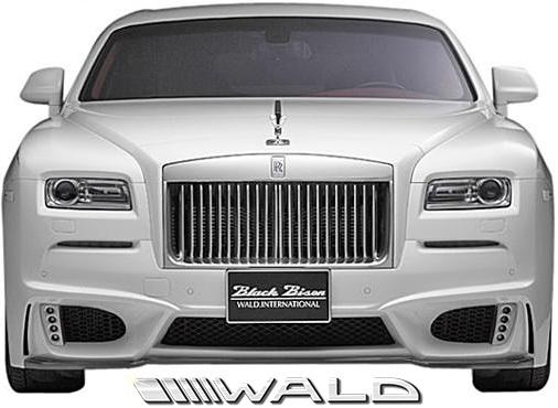【M's】ロールスロイス レイス (2013y-) WALD Black Bison フロントバンパースポイラー//FRP製 ヴァルド バルド エアロ カスタム シンプル ロールス Rolls Royce WRAITH ブラックバイソン