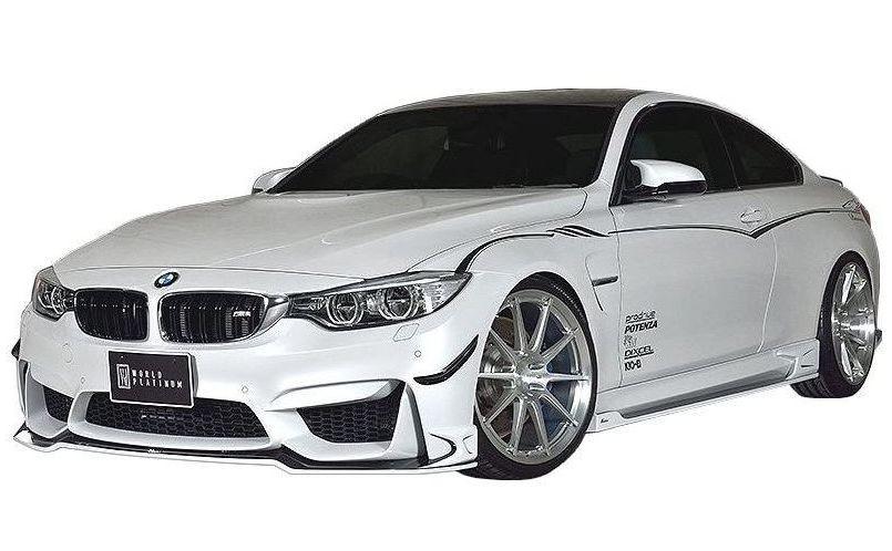 【M's】 BMW M4 クーペ F82 エアロ 3点セット(FRP)/ROWEN/ロエン//フロント スポイラー/サイド ステップ/リア アンダー ディフューザー/CBA-3C30 M4 COUPE/WORLD PLATINUM STYLE KIT 1B003X00