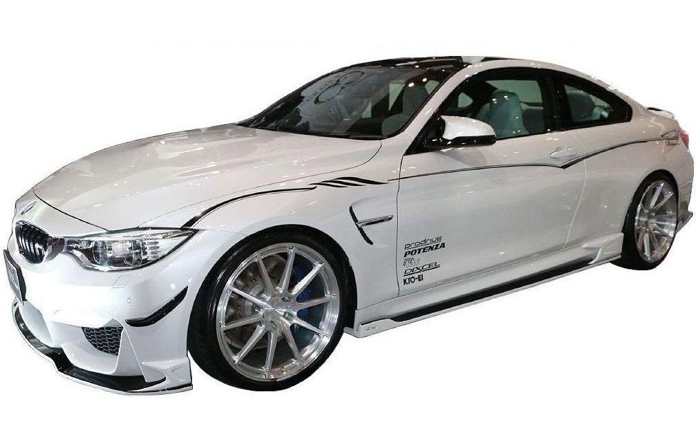 【M's】 BMW M4 クーペ F82 エアロ 3点セット(FRP+Carbon)/ROWEN/ロエン//フロント スポイラー/サイド ステップ/リア アンダー ディフューザー/CBA-3C30 M4 COUPE/WORLD PLATINUM PREMIUM STYLE KIT 1B003X10