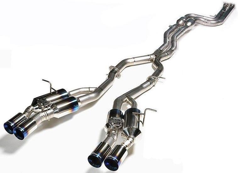 【M's】 BMW M4 クーペ F82 可変バルブ付 チタン マフラー(触媒あり)/ROWEN/ロエン//CBA-3C30 M4 COUPE/WORLD PLATINUM PREMIUM01TR『HEAT BLUE TITAN』EXHAUST SYSTEM 1B003Z02