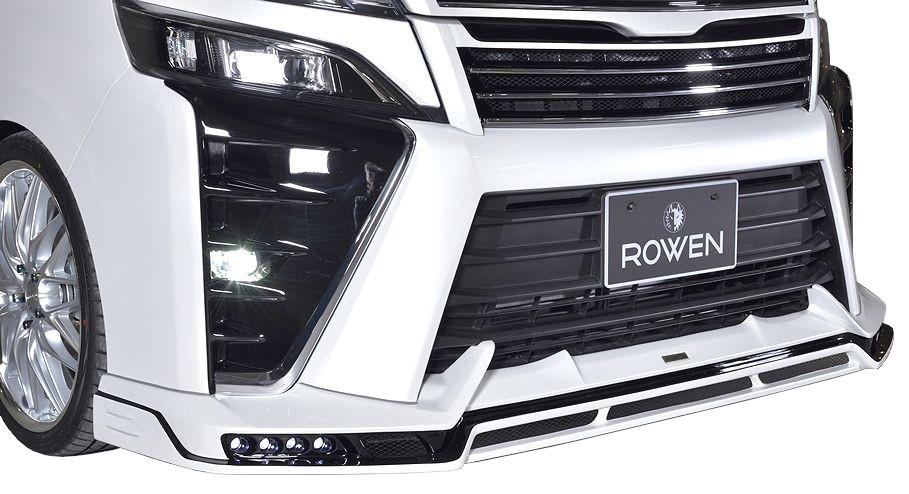 ヴォクシー スポイラー F 後期(H29.7-)ZS 1T028A00 TOYOTA フロント リップ ロエン LED付 トヨタ ROWEN VOXY エアロ アンダー ハーフ