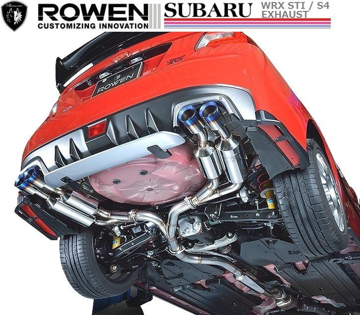 【M's】 SUBARU WRX STI 両側 4本出し マフラー 事前認証取得 / ROWEN / ロエン// PREMIUM01S SUS304 オール ステンレス EXHAUST / スバル CBA-VAB / 1S006Z00S 左右 デュアル ツイン 真円 テール エキゾースト