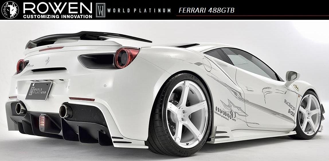 WORLD 488 エアロ// trunk フェラーリ spoiler スポイラー / トランク / PLATINUM 【M's】Ferrari ROWEN/ロエン / FRP 1F003T01 GTB