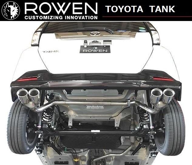 トヨタ タンク 左右 4本出し マフラー カッター ターボ車用 ROWEN ロエン 1T027Z00S / エキゾーストフィニッシャー ステンレス テール TOYOTA TANK