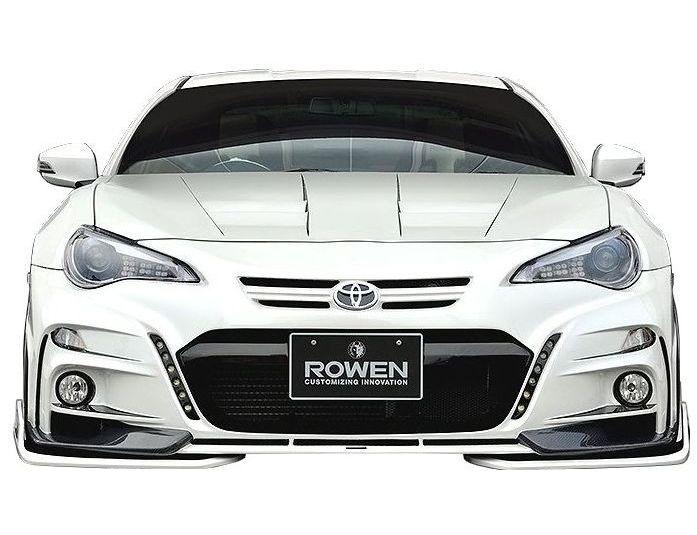 【M's】 トヨタ 86 ZN6(H24.4-)フロント カナード(汎用)/ ROWEN/ロエン エアロ // TOYOTA DBA-ZN6 / 6AM003 / 2.0 G/GT / FRP 未塗装 新品 フロントフリッパー