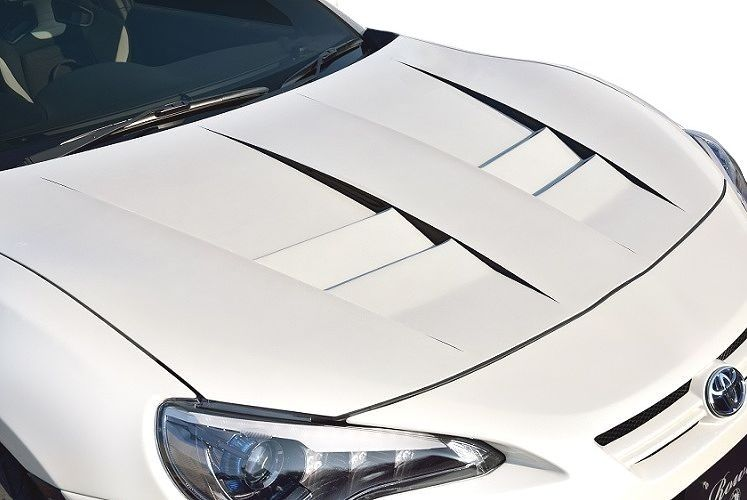 【M's】 86 / BRZ(H24.4-)RR レーシング ボンネット / ROWEN/ロエン エアロ // トヨタ TOYOTA DBA-ZN6/スバル SUBARU DBA-ZC6 / 1T009B00 / 2.0 G/GT/S/R / ダクト付 FRP 未塗装 新品